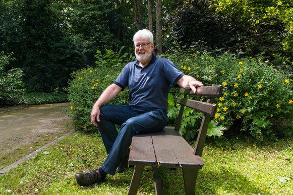 Polders in de tuin van het Mierenbergpark, waar hij dertig jaar werkte.