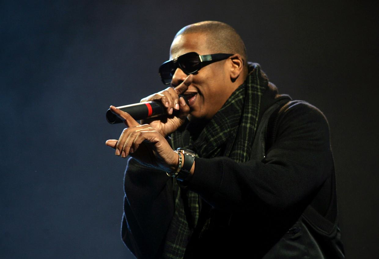 Jay-Z op Glastonbury Beeld Getty Images