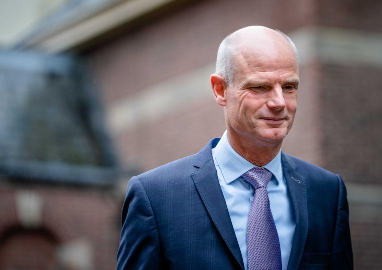 Minister Stef Blok van Buitenlandse Zaken (VVD) bij aankomst op het Binnenhof voor de wekelijkse ministerraad.  Beeld ANP