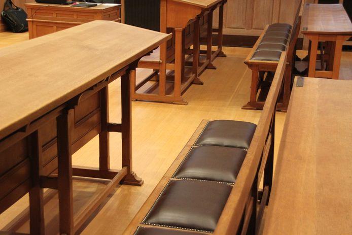 Zittingzaal rechtbank Kortrijk