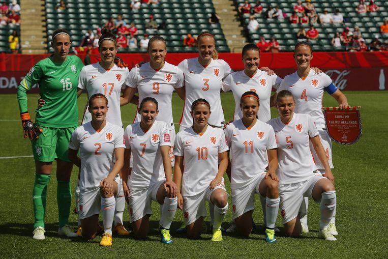 Het nationale vrouwenteam. Beeld afp