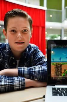 Bas (13) uit Tilburg een kinderheld dankzij Minecraft