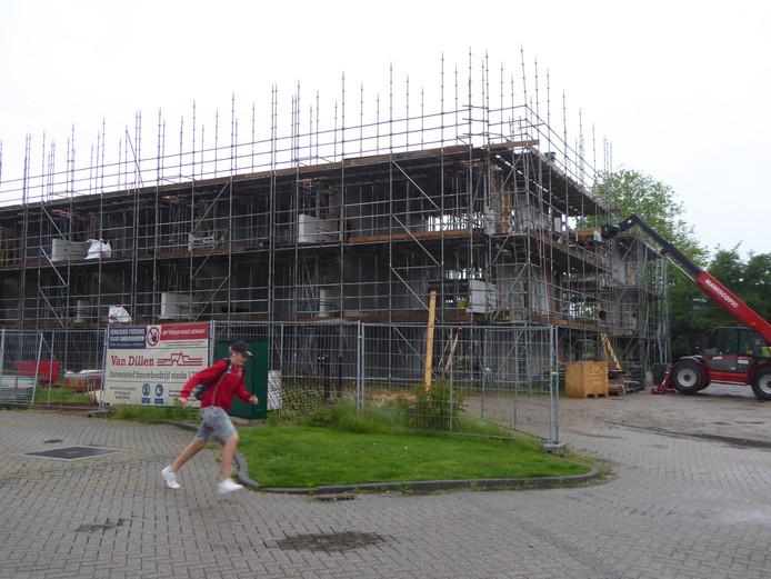 Woningen in aanbouw aan de Lentehof in Lopik.