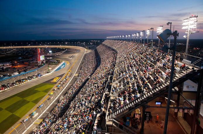 Het circuit van Daytona Beach, Florida.