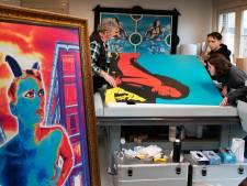 Peter maakt kunst met een superprinter in Lienden: 'Je kunt er zelfs stukken rots onder leggen'