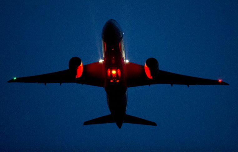 Een nachtvlucht op Schiphol Beeld ANP