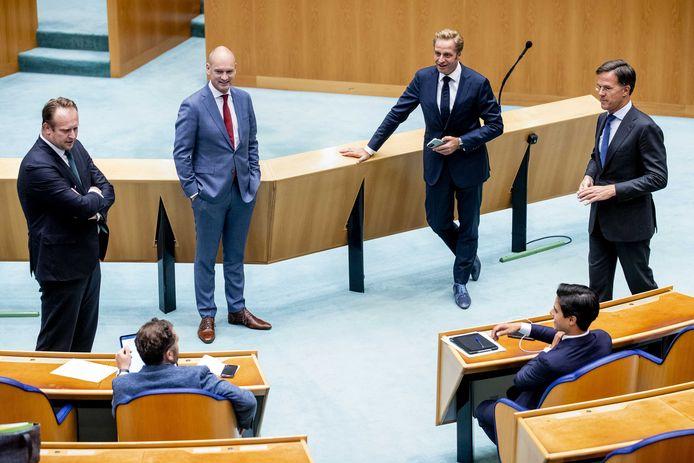Pieter Heerma (CDA), Klaas Dijkhoff (VVD) en Gert-Jan Segers (ChristenUnie).
