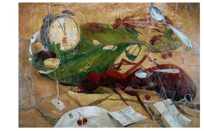 Een schilderij van Aref Damee, waarmee hij de Groene Hart Kunstprijs won.