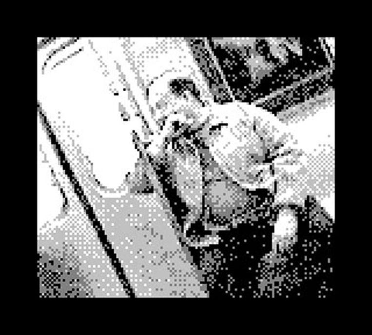 Een passagier in de metro.