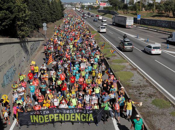 Er is nog heel wat volk op weg naar Barcelona.