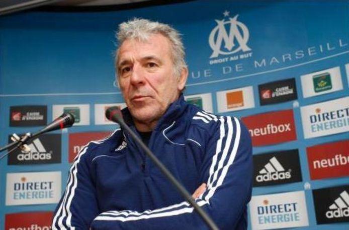 Eric Gerets, à l'époque où il entraînait Marseille