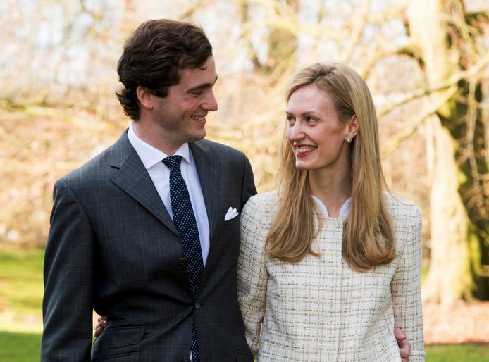 Le Prince et la Princesse, lors des fiançailles du couple, en février 2014.