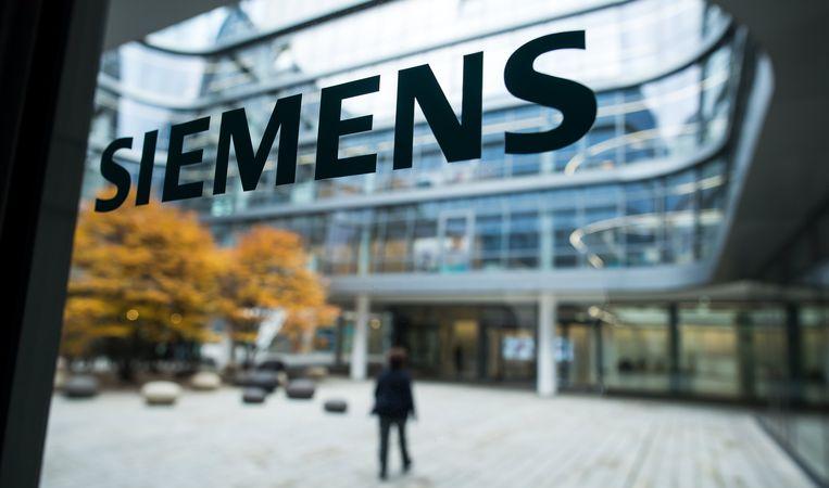 Het hoofdkantoor van  Siemens in München.  Beeld EPA