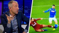 """Smerige tackle Van Dijk op Mertens zorgt voor animo. Sonck: """"Dries was te laat op de bal"""" - Van der Elst: """"Allez Wesley, dit is toch áltijd rood"""""""