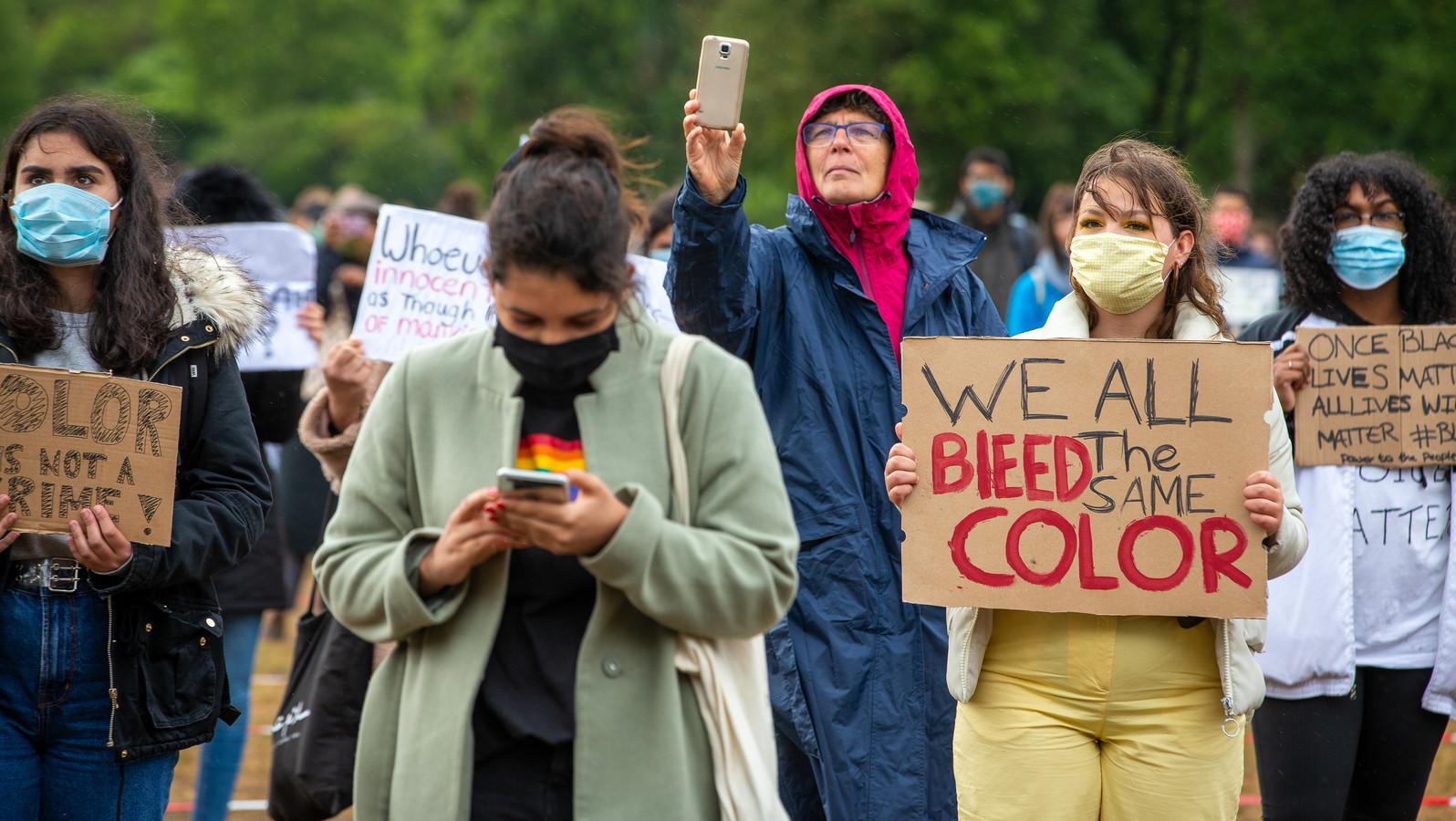 Het Black Lives Matter-protest in Goffertpark.