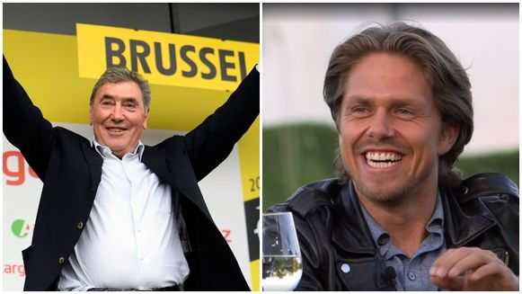 Eddy Merckx en André Hazes junior.