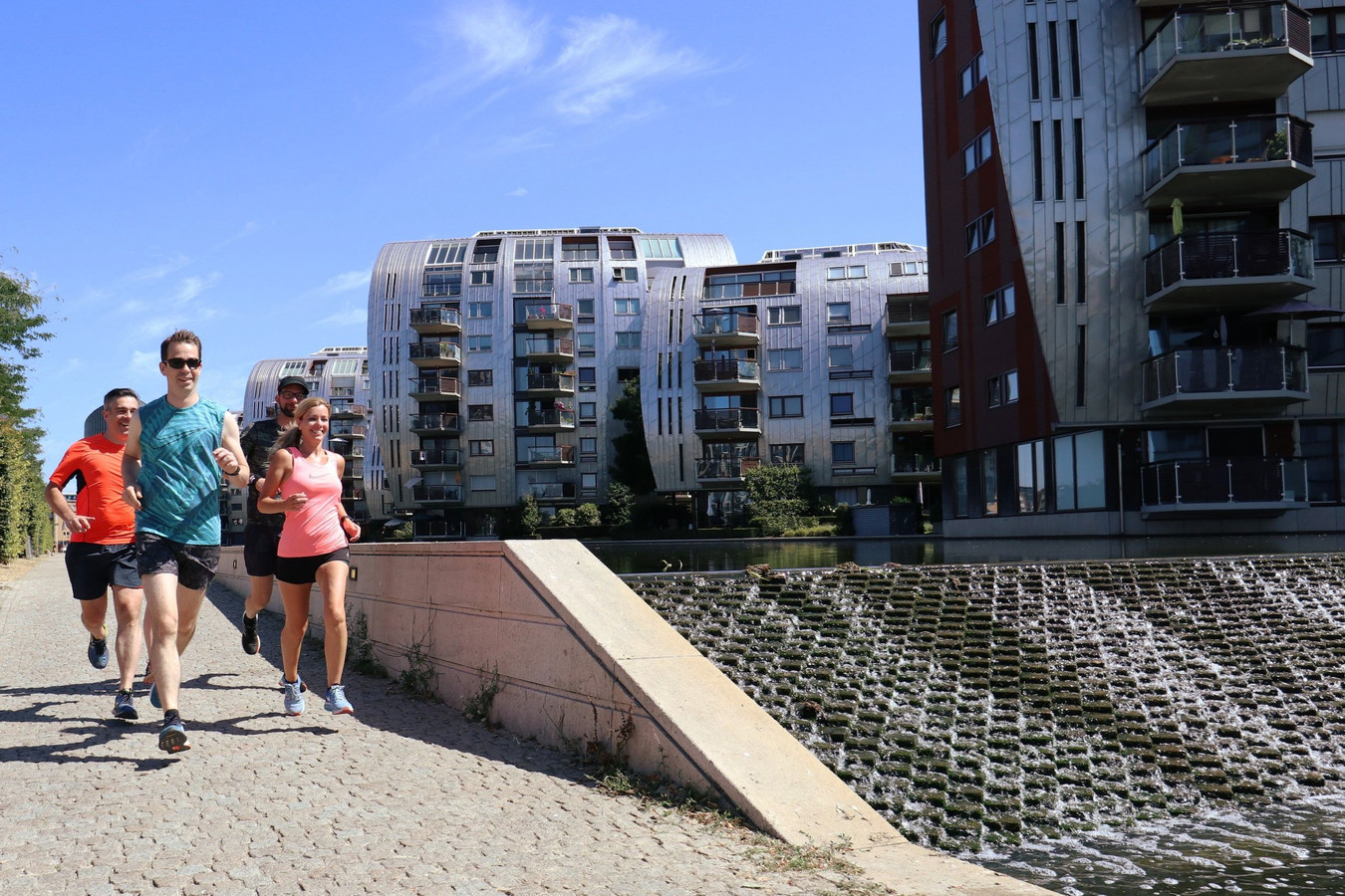 Urban Trail Den Bosch, hier in het Paleiskwartier