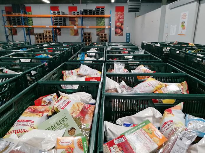 Het distributiecentrum van de Voedselbank in Arnhem.