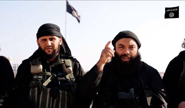IS-militanten in een videobooschap. Beeld afp