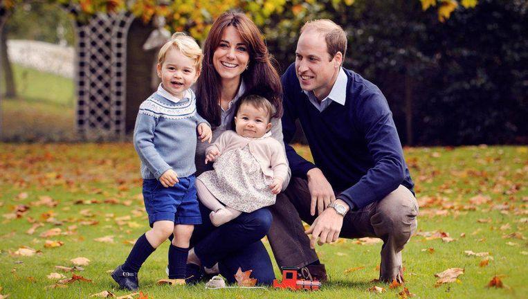 William en Kate met prins George en prinses Charlotte.