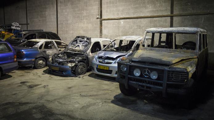 Een autosloopbedrijf in Den Haag.