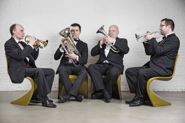 Het Cosy Brass Quartet.