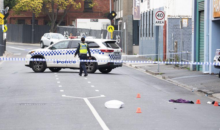 Politie heeft de plek waar de schietpartij plaatsvond afgezet.
