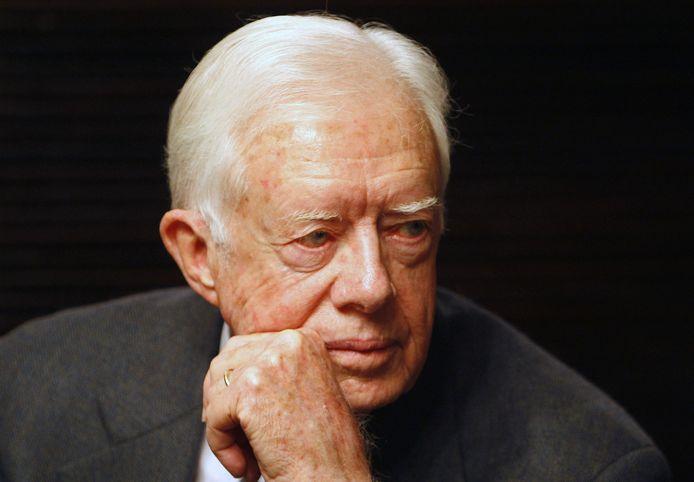 Jimmy Carter, à Jerusalem, en avril 2008.