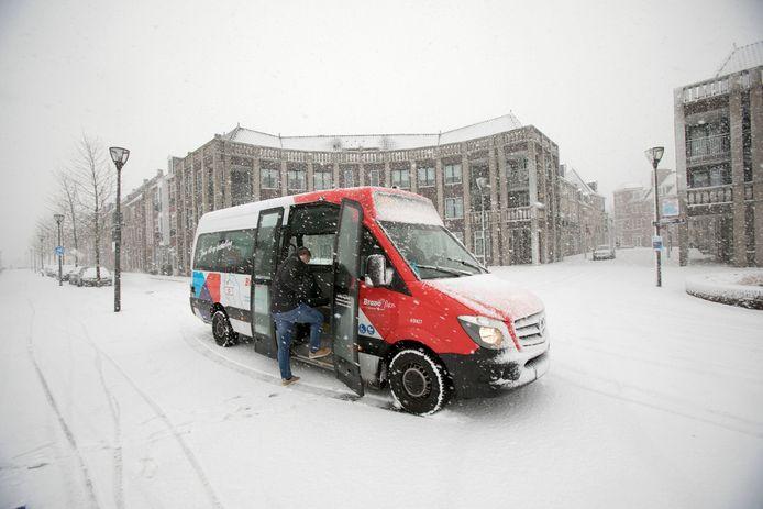 Bij de start in december had Bravo flex last van de hevige sneeuwval.
