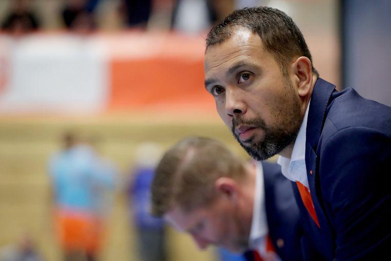 Oud-Oranjespeler en bondscoach Max Tjaden. Beeld RV