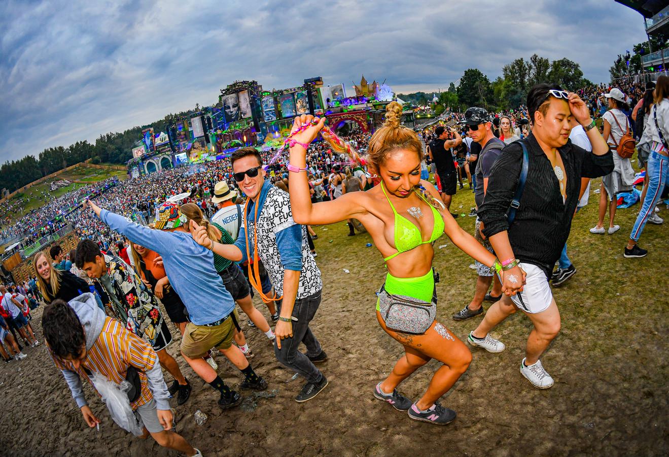 Het feestje op Tomorrowland.