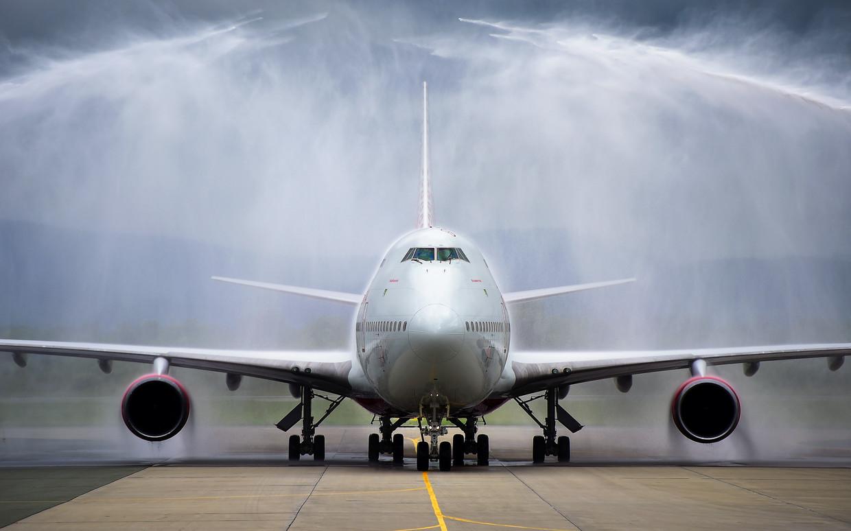Een Boeing 747 in Vladivostok.