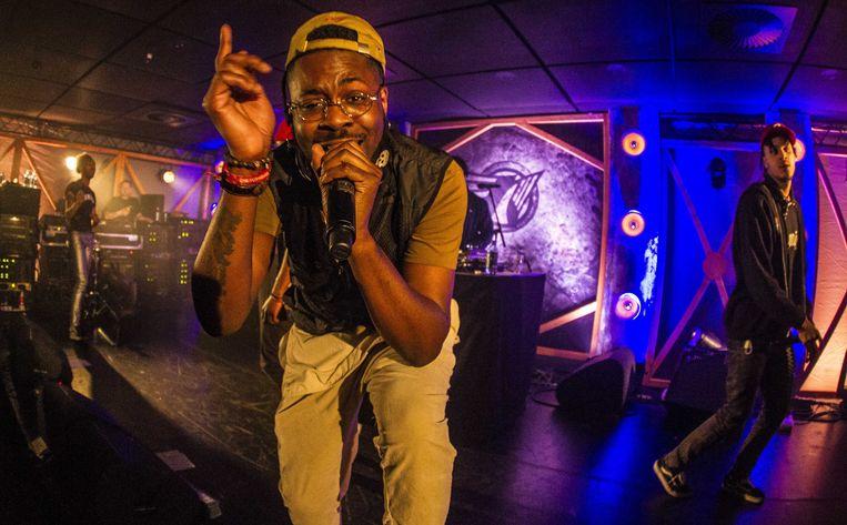 Hiphopformatie Smib treedt op op Noorderslag in Groningen.  Beeld ANP