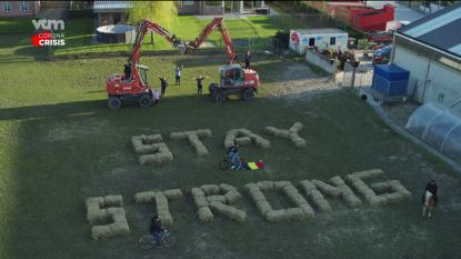 "VTM-drone vliegt maandagnamiddag boven Lievegem: ""Kom even uit uw kot!"""
