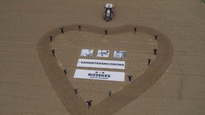 VTM-drone filmt warme boodschappen van inwoners Gooik