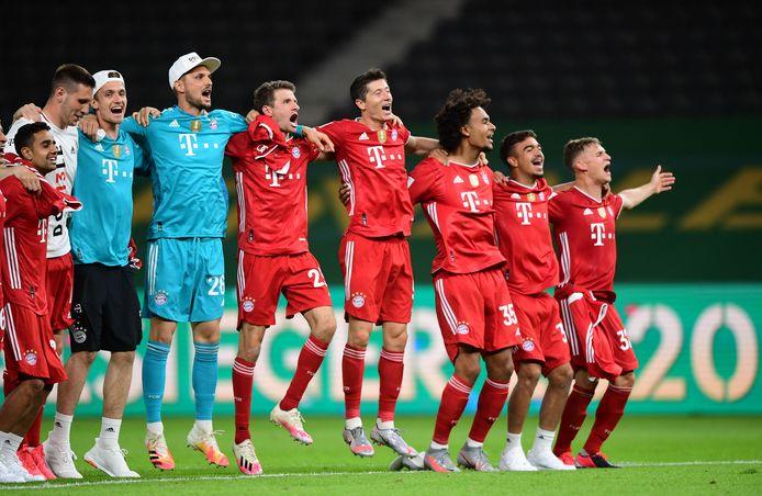 Bayer München viert feest.