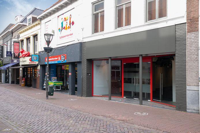 De gesloten seksshop van Beate Uhse in Hulst.