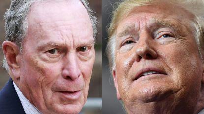 Strijd der miljardairs: Trump en Democratische rivaal Bloomberg clashen in strijd om presidentschap
