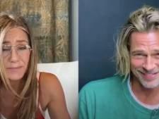 """""""Brad... Tu sais à quel point je t'ai toujours trouvé mignon"""": Brad Pitt et Jennifer Aniston flirtent pour la bonne cause"""