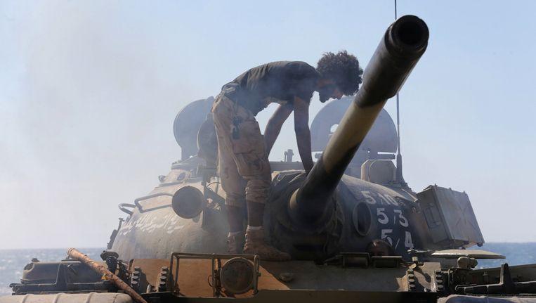 De speciale troepen van het Libische leger in Benghazi.