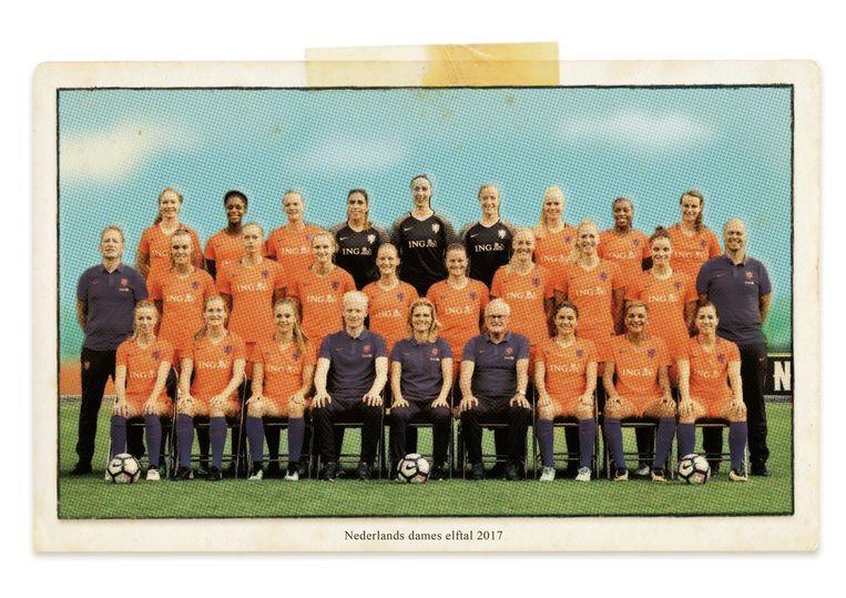 Nederlands dameselftal van 2017. Beeld studio vonq