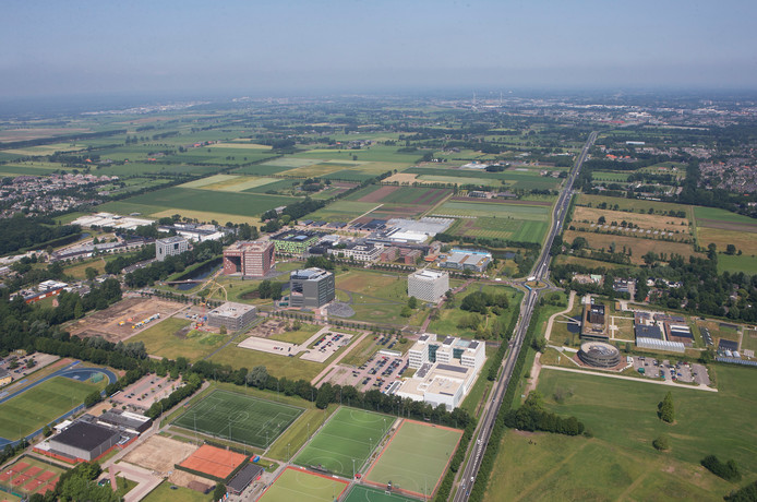 De campus van de Wageningen universiteit.