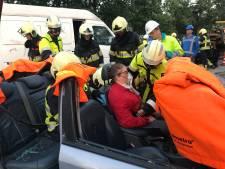 Pittige oefenklus voor brandweerteams uit regio Uden