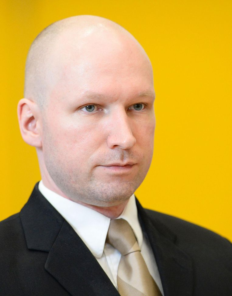 Anders Breivik tijdens een rechtszaak in maart. Beeld anp