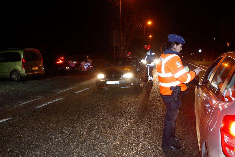 -illustratie politiecontrole alcohol
