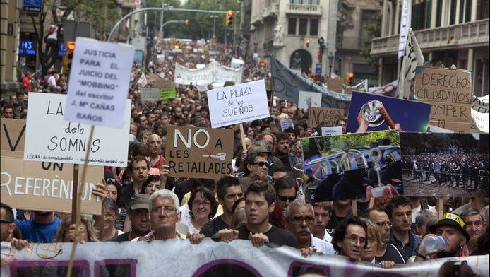 De economische crisis leidde al tot heel wat protest in Spanje.