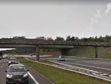 Nieuwe fietsbrug De Wakels over A1 bij Rijssen-Holten