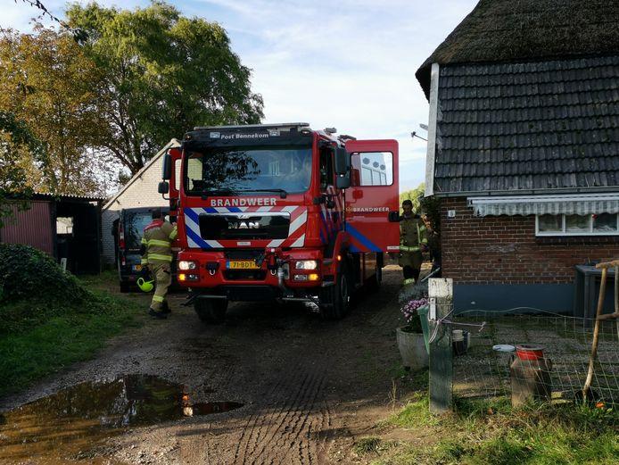 De brandweer moest opnieuw uitrukken om de schuur na te blussen in Bennekom.