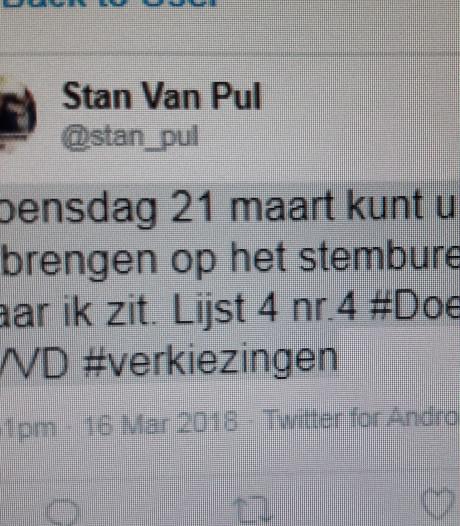 Stembureaulid haalt tweet 'stem lijst 4, nummer 4' toch maar weg