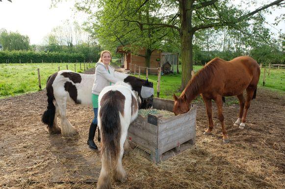 Ann Delaruelle van de nieuwe kinderboerderij De Madeliefjes.